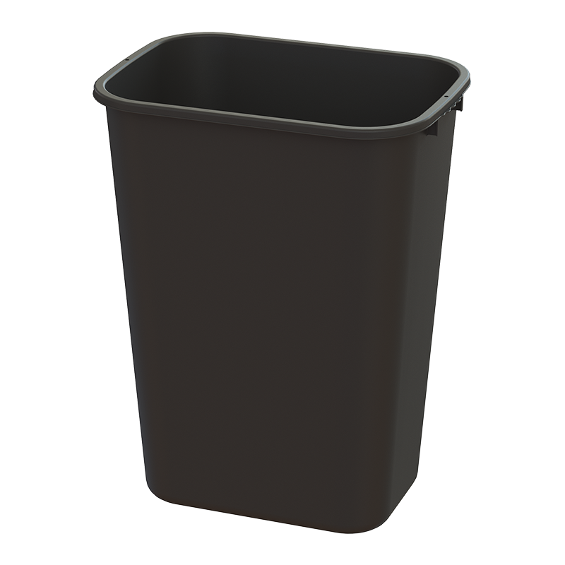 41-Qt. Waste Basket Black