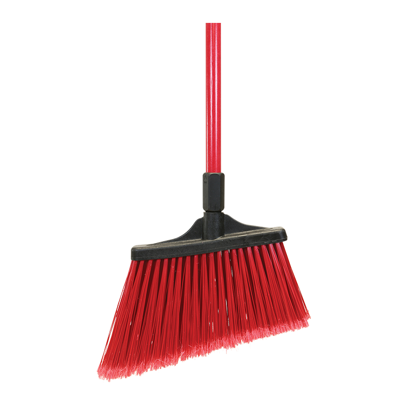 MaxiSweep™ Angle Broom, Red - Flagged