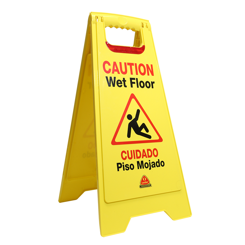 Flashing Floor Safety Sign