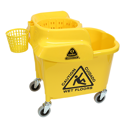 MaxiRough® Institutional Mop Bucket and Wringer