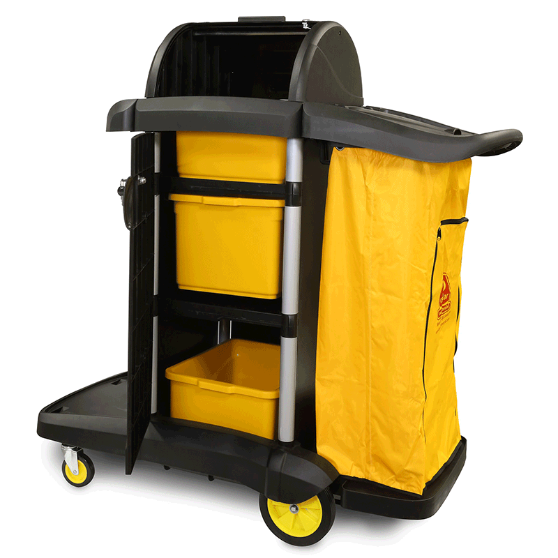MaxiRough® Deluxe Janitor Cart