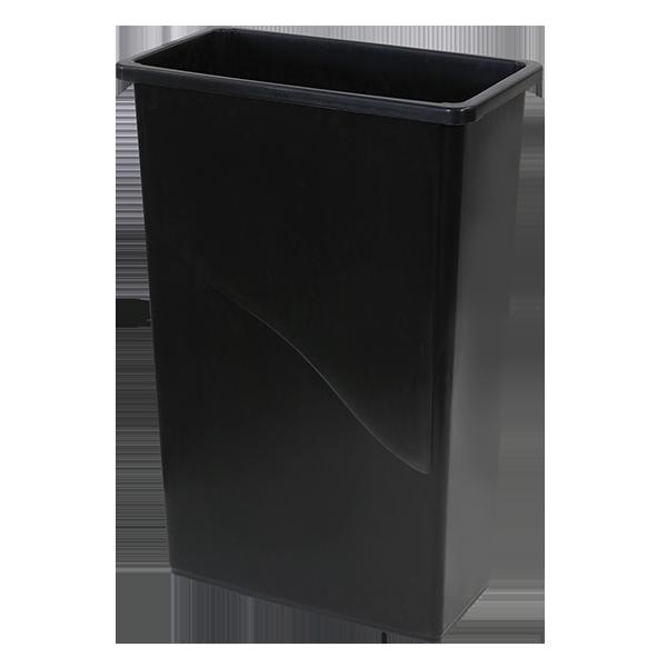23-Gallon Gladiator™ Slim Container, Black