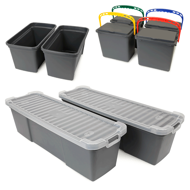 Plastic Buckets for MaxiPlus® Microfiber Cart